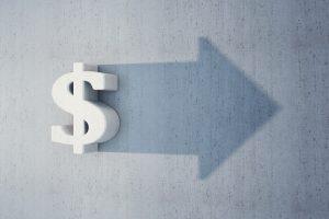 dollar sign growing